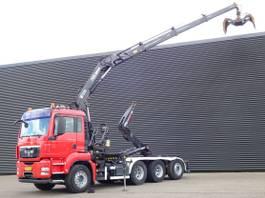 containersysteem vrachtwagen MAN TGS 35 8x4/4 / ABROLKIPPER + HIAB KRAN 2008