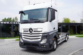 containersysteem vrachtwagen Mercedes-Benz Actros 2543 , E6 , 6X2 , BDF , chassis 7,2m , wheelbase 4,9m , r 2017