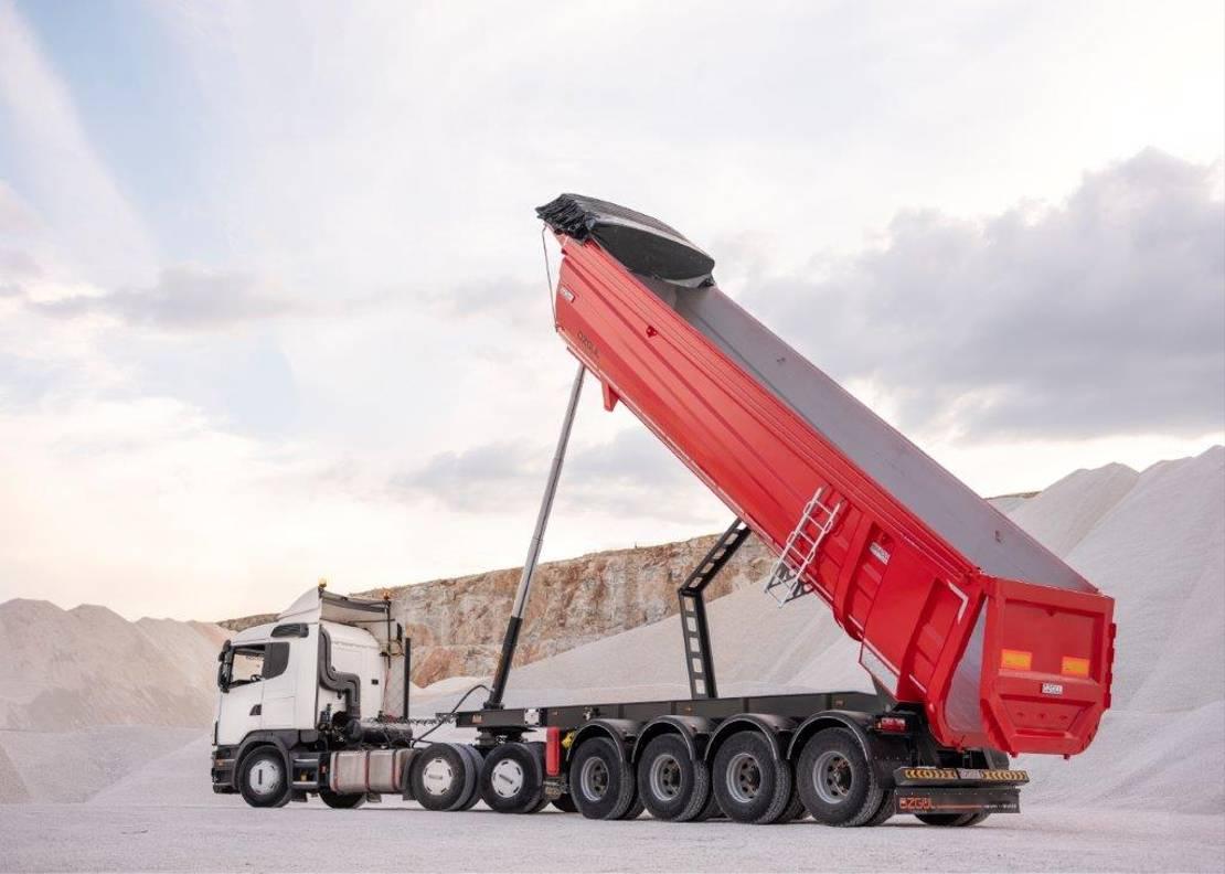 kipper aanhanger Diversen Ozgul 36 CBM 4 Axles Half Pipe Type Tipping Semi Trailer 2021