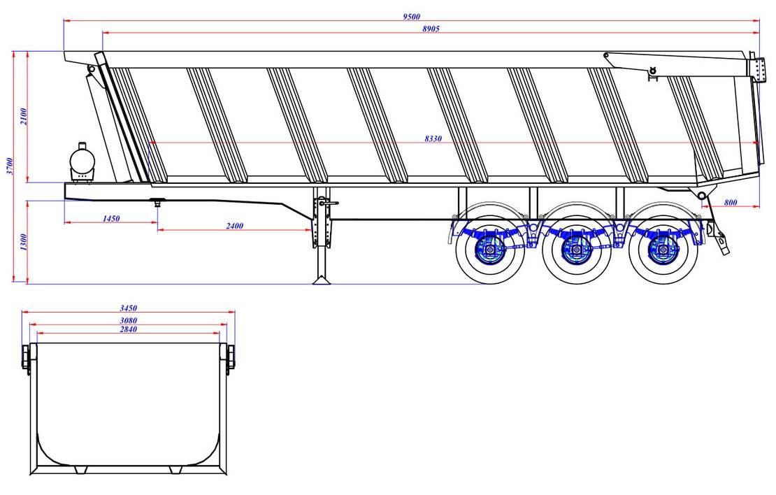 kipper aanhanger Diversen Ozgul 45 CBM Tipper Semi Trailer 3 axle | NEW 2019