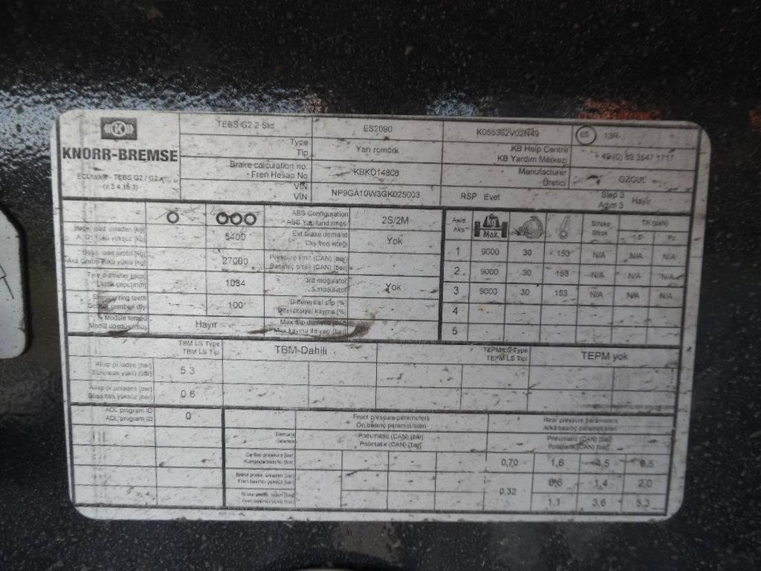 kipper aanhanger Diversen Ozgul G Tri/A 24 cbm End Dump Tipper Trailer 2017