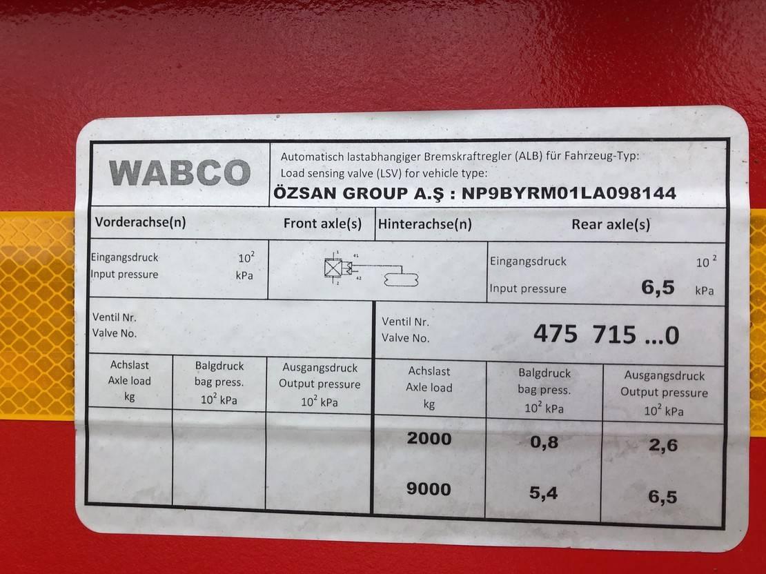 kipper aanhanger Diversen OZSAN TT3 24 cbm (SAF) 2020