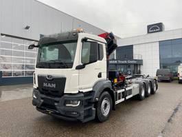containersysteem vrachtwagen MAN New Generation 35.470 8x4-4 BL-NN HMF 2320 K4 & K5 kraan+containerhaak 2022