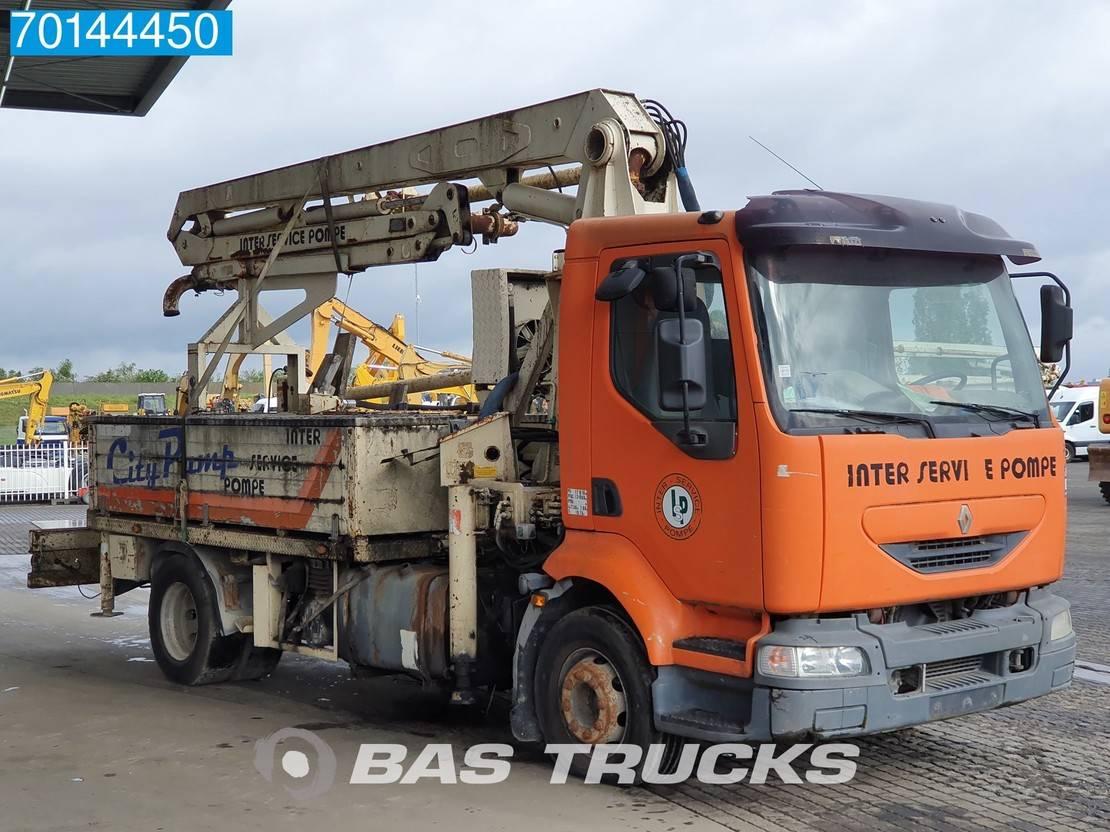 betonpomp vrachtwagen Renault Midlum 210 4X2 Manual Steelsuspension Euro 3 Damaged 2003