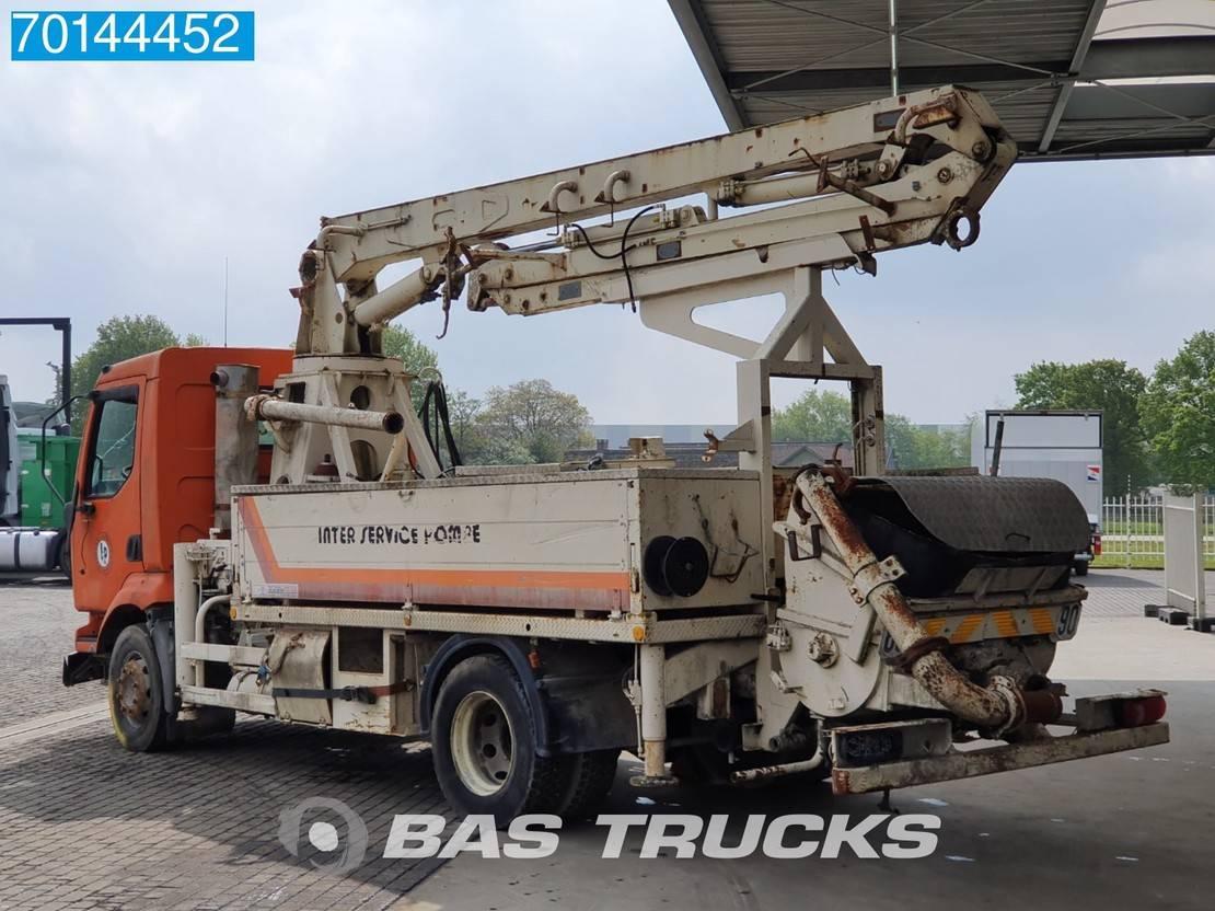 betonpomp vrachtwagen Renault Midlum 210 4X2 Manual Steelsuspension Euro 3 Damaged 2002