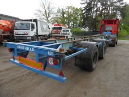 container chassis oplegger Fruehauf oplegger 2-asser containerchassis
