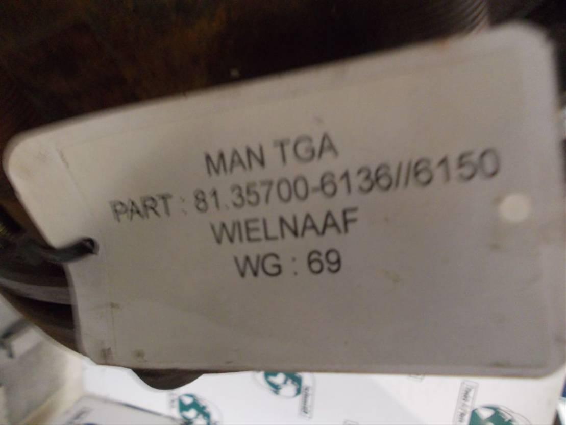 Naaf vrachtwagen onderdeel MAN 1.35114-0141/81.35700-6150/6136 ACHTER AS