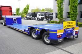 dieplader oplegger King lowered semi trailer , 2 hydraulic steer axles , remote control 2010