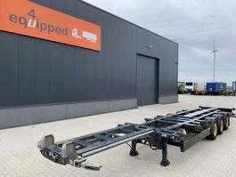 container chassis oplegger Kögel PORT 45 DUPLEX, 45FT HC, 2x extendable,  SAF+DISC, liftaxle, NL-chassis, APK 04/2022 2017