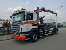 containersysteem vrachtwagen Scania G 380 6X4 HAAKSYSTEEM + ATLAS KRAAN / CONTAINER / TOP CONDITION !! 2008