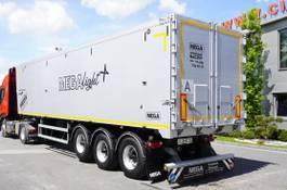 kipper oplegger Mega LIGHT , 60m3, ALU , lift axle , flap-doors , LIKE NEW 2019