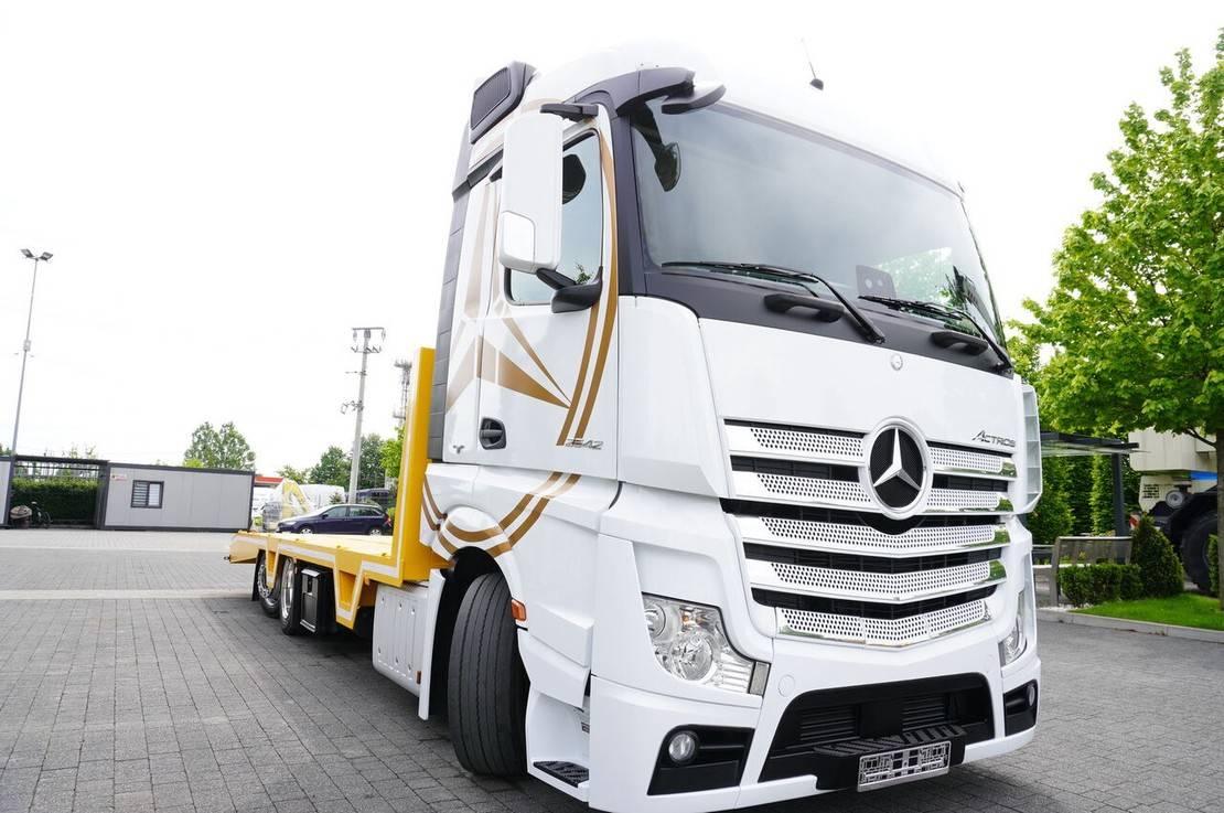 autotransporter vrachtwagen Mercedes-Benz Actros 2542 , E6 , 6x2 , NEW BODY 8,3m , Steer axle , Winch ,rem 2016