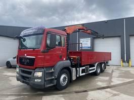 open laadbak vrachtwagen MAN TGS 26.360 OPENLAADBAK + KRAAN
