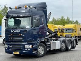 containersysteem vrachtwagen Scania R450 8x2/6 HIAB 26T HAAKARM EURO 6 2014