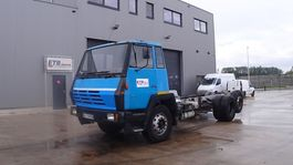 chassis cabine vrachtwagen Steyr 1491 (STEEL SUSPENSION / BIG AXLE / MANUAL PUMP / 6X2 / 8 TIRES) 1990