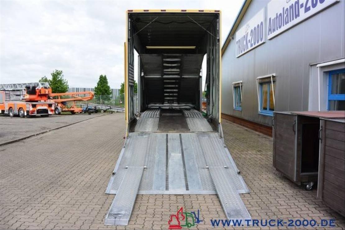 autotransporter vrachtwagen Mercedes-Benz Actros 1845 Spezial Geschlossen Transport 4 PKW 2012