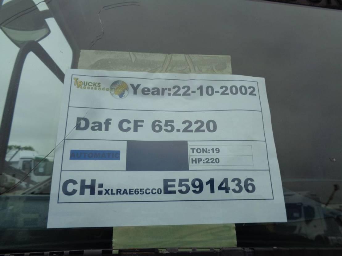 platform vrachtwagen DAF + Manual + HIAB 102 CRANE 2002
