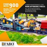 breker FABO MVSI 900 MOBILE VERTICAL SHAFT IMPACT CRUSHING SCREENING PLANT 2021