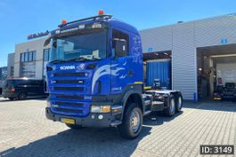 chassis cabine vrachtwagen Scania R420 CR19, Euro 4, Full steel - 6x6 - Big Axles - Good Condition, Intarder 2007