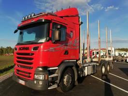 houttransporter vrachtwagen Scania R580-V8 8X4 4500 2015
