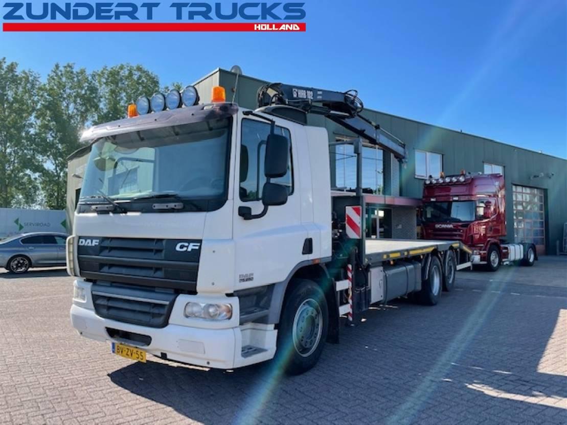 platform vrachtwagen DAF CF 75 HIAB 102-1 CRANE 2009