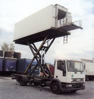 bakwagen vrachtwagen Iveco EuroCargo 120 120 E 15 Catering Sky Koffer 6m high Werbung 2000