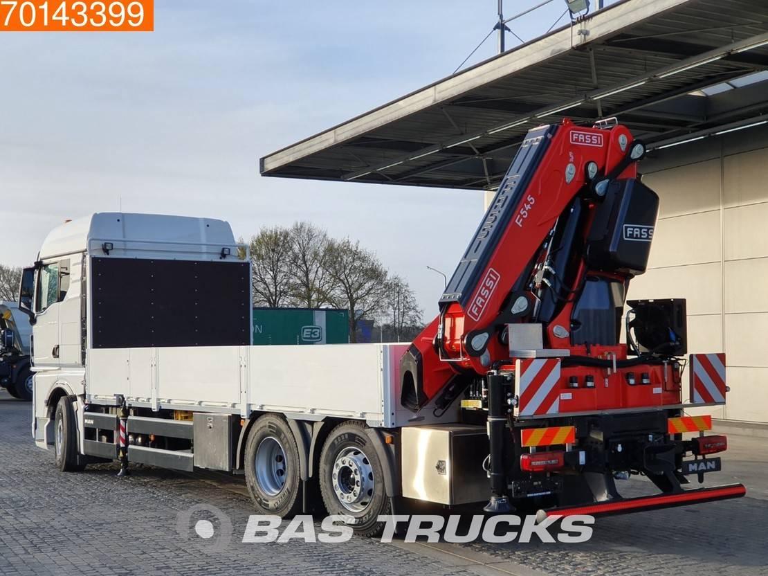 platform vrachtwagen MAN TGX 26 6X2 Crane Kran 20 Meters Long! Fassi F545RA.2.28 XE-Dynamic Retarder Ste... 2020