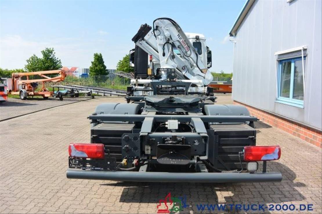 platform vrachtwagen MAN TGS 18 4x4H SZM + Pritsche Atlas Kran 1.Hand 2009