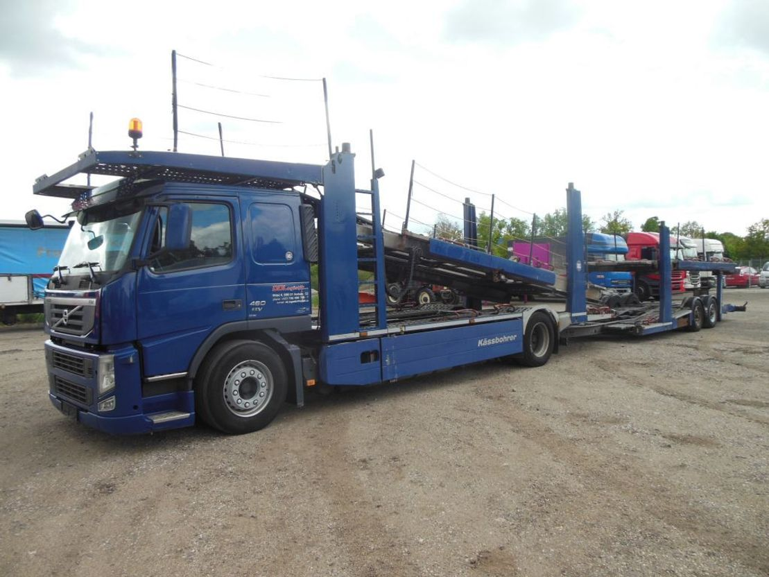 autotransporter vrachtwagen Volvo FM 460 FM13/460+KÄSSBOHRER 2012