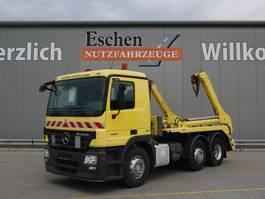 containersysteem vrachtwagen Mercedes-Benz Actros 1841 2641L, 6x2, Meiller AK 16 MTG Teleabsetzer, Bl/Lu 2008