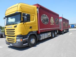 schuifzeil vrachtwagen Scania R450 6X2  E RIMORCHIO OMAR 25385P 2013