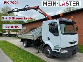 kipper vrachtwagen > 7.5 t Renault Midlum 220 3 S-Kipper PK 7001 - 8,9 m 1. Hand 2004