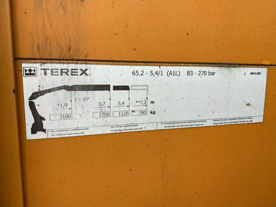 platform vrachtwagen Mercedes-Benz 924 4x2 Euro 4 Pritsche 6 m Kran bis 7,2 m 2007