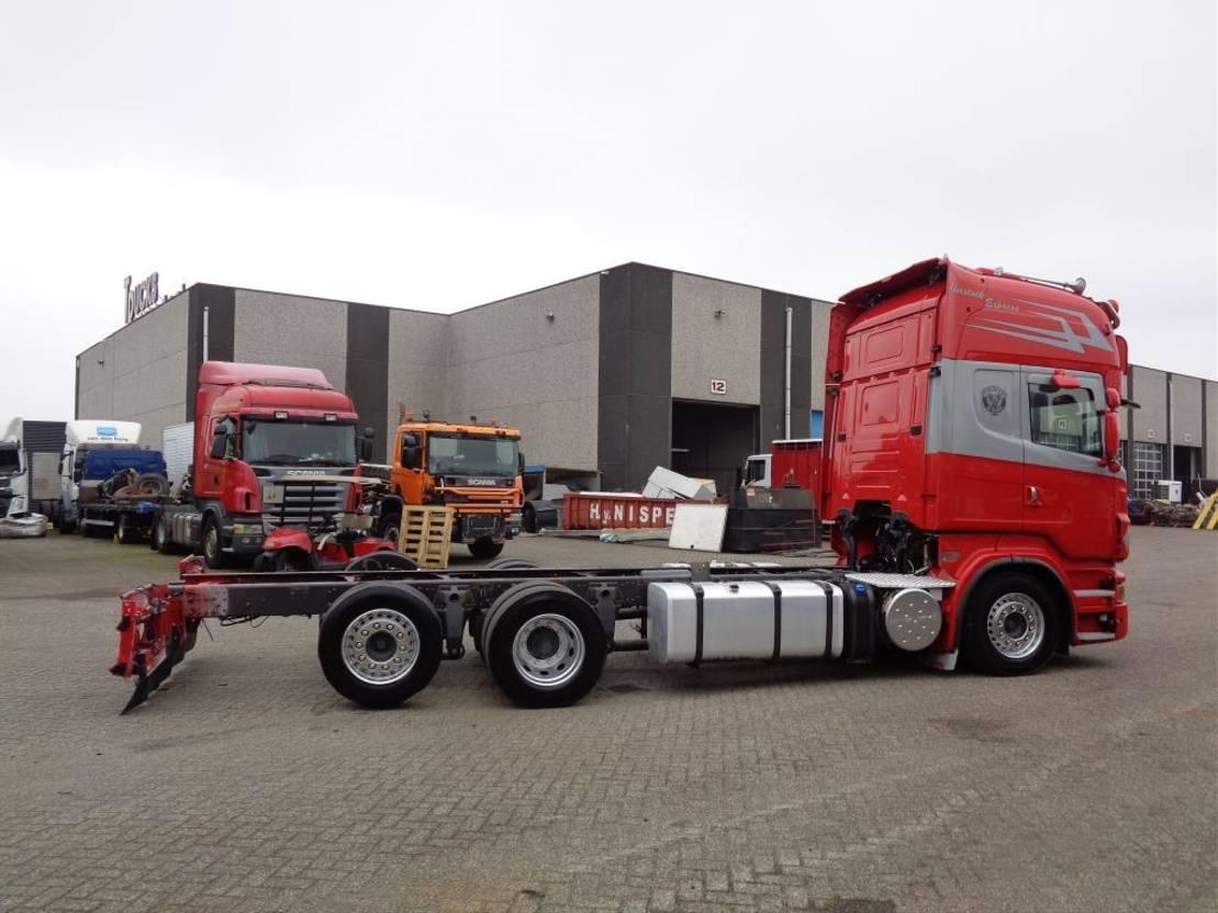 chassis cabine vrachtwagen Scania R500 V8 + Retarder + Euro 5 + 6X2 2011