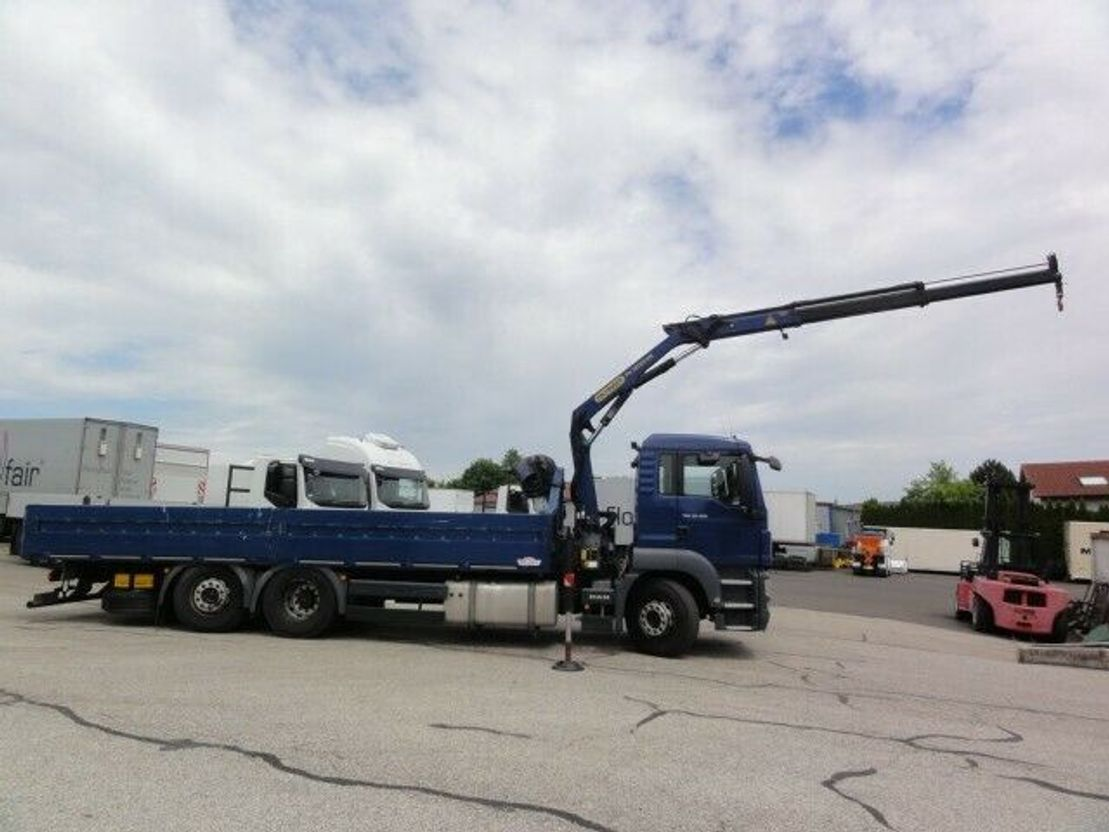 platform vrachtwagen MAN TGS 26 6x2-2 BL Intarder Lenkachse PK12001 2012