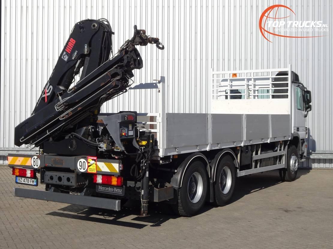 platform vrachtwagen Mercedes-Benz Actros 2636 6x4 - Hiab 16TM Kraan, Crane, Kran, Grue - Euro 5 2011
