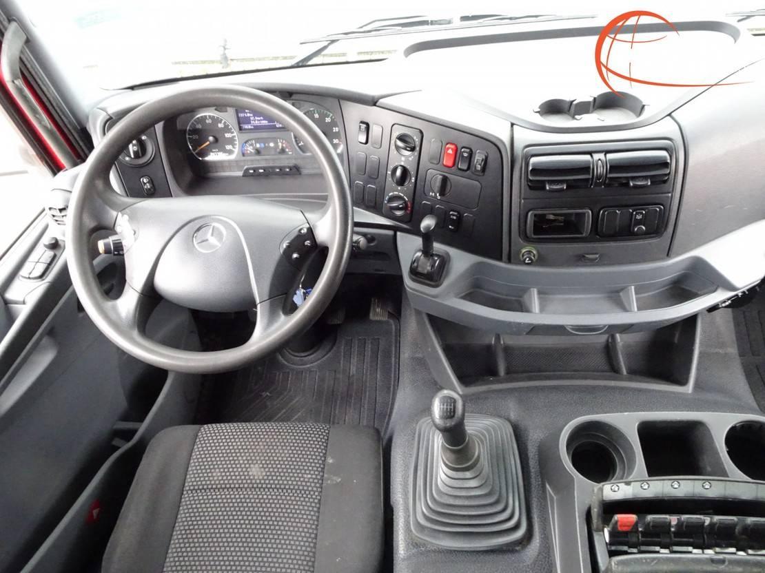 platform vrachtwagen Mercedes-Benz Axor 1829 Hiab 14TM Kraan, Crane, Kran - Remote control - Euro 5 2013