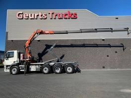 containersysteem vrachtwagen DAF CF 8X2 TRIDEM + VDL HAAKARM + ATLAS 206.3E KRAAN/KRAN/CRANE/GRUA 2017