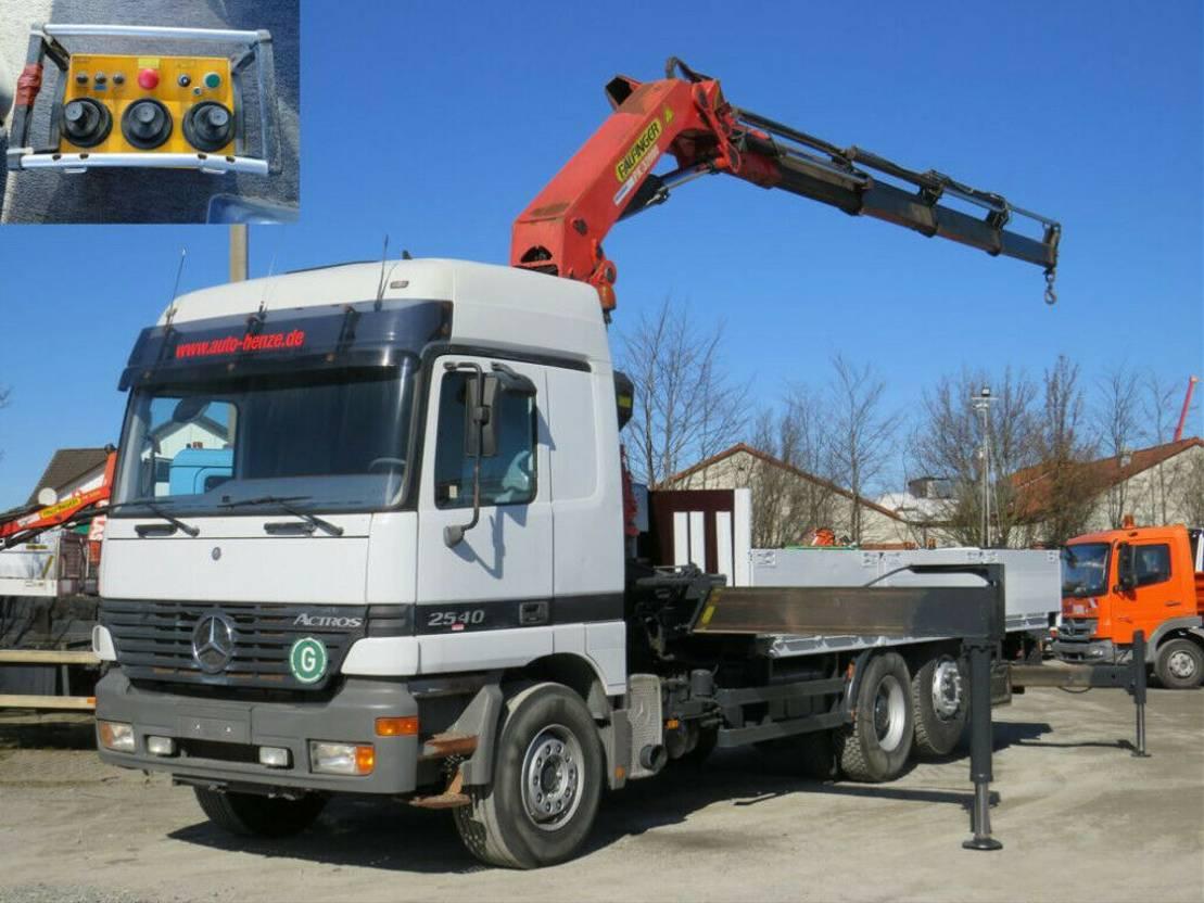 platform vrachtwagen Mercedes-Benz Actros 2540 Pritsche Kran PK 32.000 Funk 1998