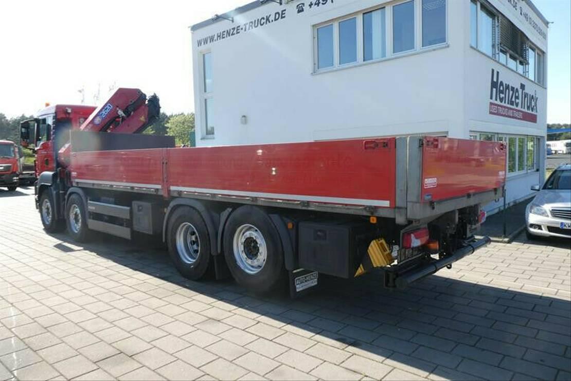 platform vrachtwagen MAN G-S 35.360 8x2 BL Pritsche Kran 26m/to +Funk 2016