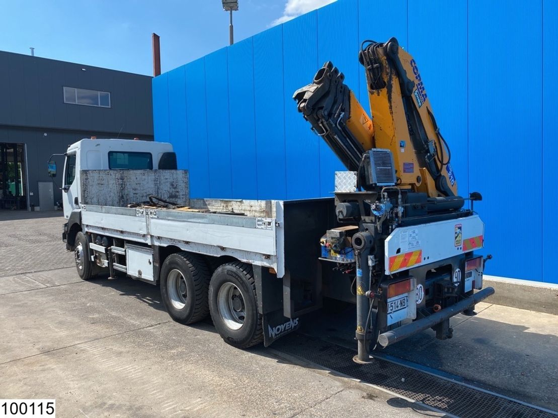 platform vrachtwagen Renault Kerax 370 6x4, Compa Crane + JIB, Remote, Steel suspension 2004