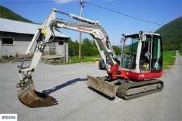 minigraafmachine rups Takeuchi TB250 excavator with only 1,360 hours 2018
