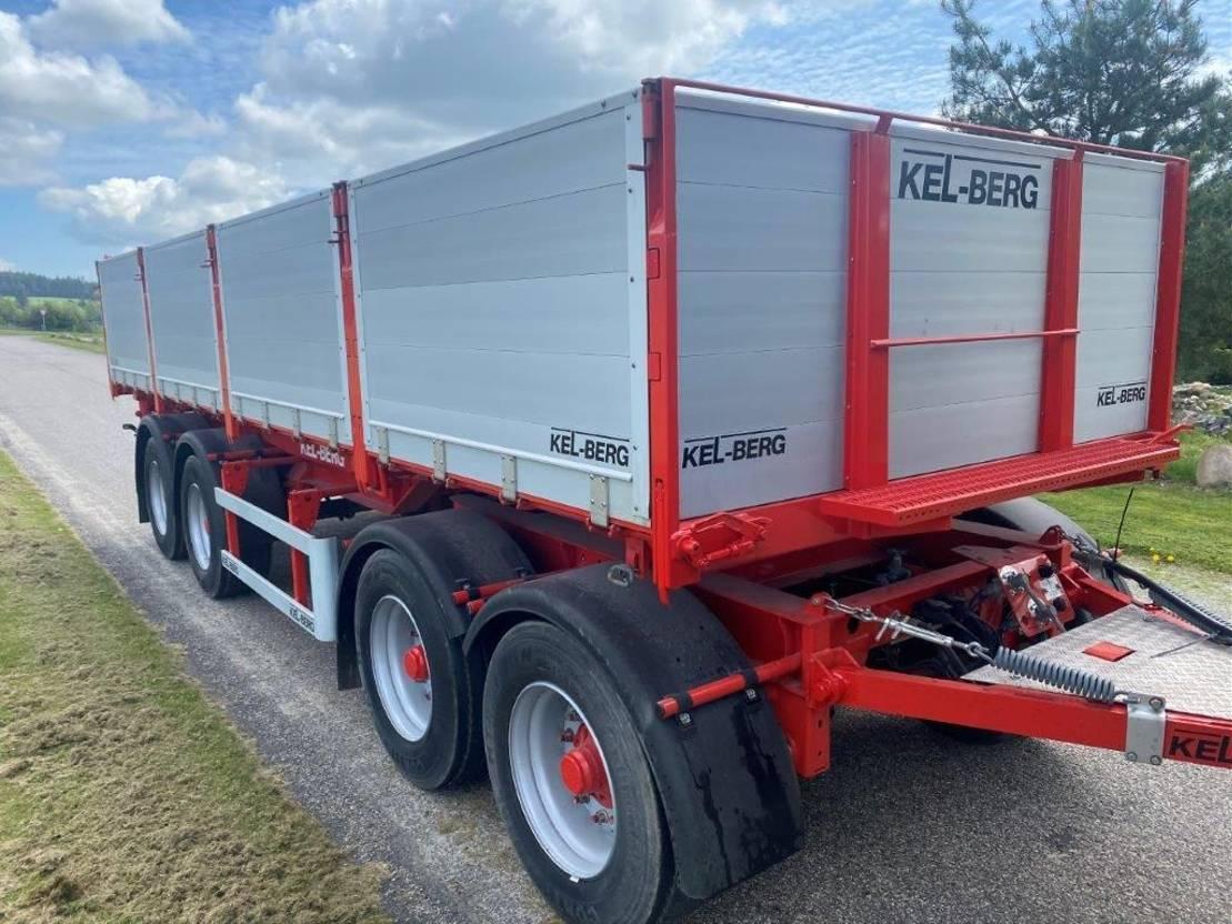 kipper aanhanger Kel-Berg NEW 4-axle 3-way tipper with steel bottom + alu-sides 2021