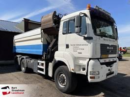 containersysteem vrachtwagen MAN TGA 26 6x6 kabelcontainer HMF 1643 Z-kraan 2006