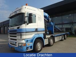 kraanwagen Scania R420 Hiab 800 EP-5 kraan 80 T.mtr + Icm aanhanger 2008
