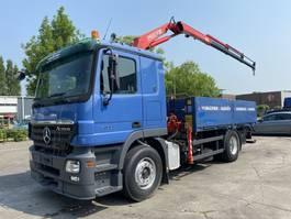 open laadbak vrachtwagen Mercedes-Benz Actros 1832 4X2 + FASSI F110 MET REMOTE 2004