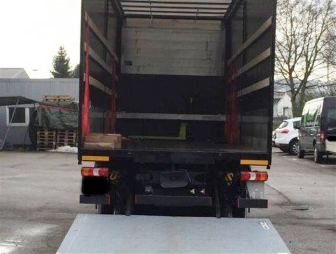 platform vrachtwagen Mercedes-Benz Actros 2540 L 6x2 Actros 2540 L 6x2, Lenkachse, 5t Dhollandia LBW, Edscha-Verdeck, S... 2014