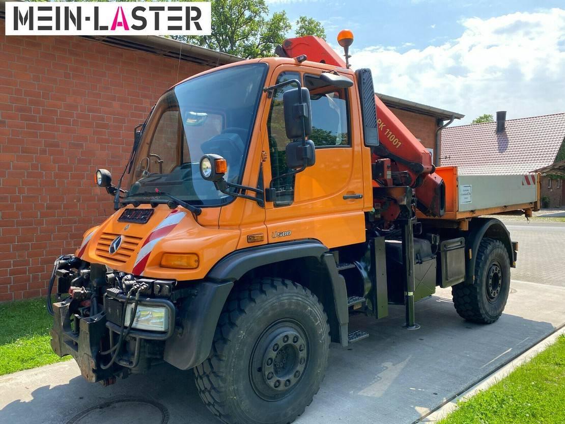 platform vrachtwagen Unimog Agrar Kran PK11001 12,6m Funk 5+6 Steuerk. 2001