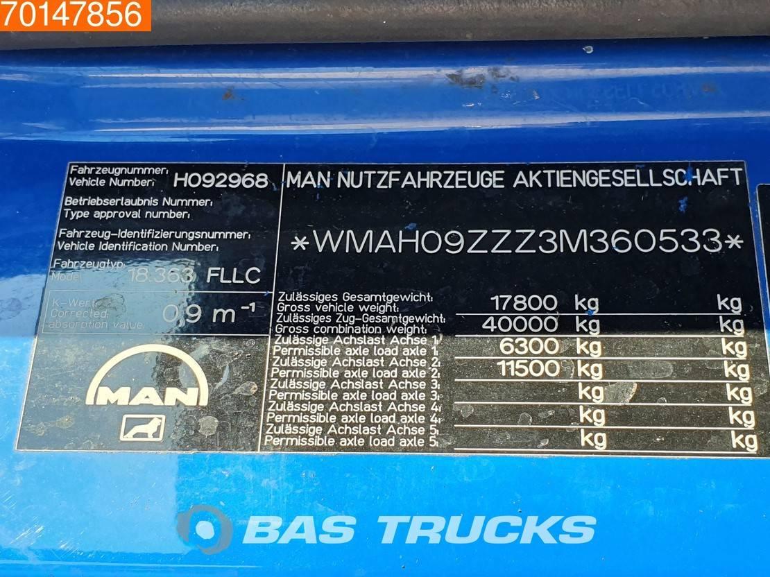 platform vrachtwagen MAN TGA 18 4X2 LX Manual Intarder Euro 3 Palfinger PK10500 BH4Y 2002