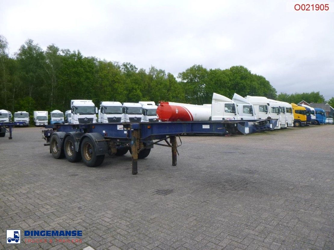 container chassis oplegger Montracon 3-axle container trailer 20-30-40-45 ft 2004